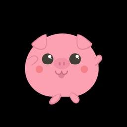 Red Pig Cute Sticker