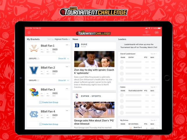 ESPN Tournament Challenge on the App Store