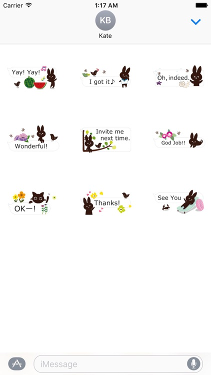 Rabbit And Cat Animated Chat