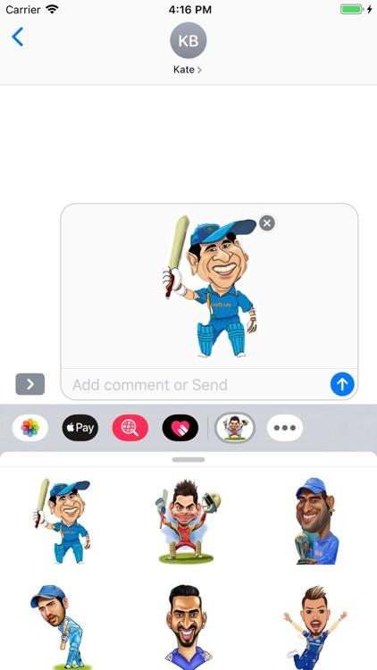 Cricket Stickers Pack screenshot-3
