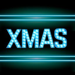 Merry Xmas Neon Stickers