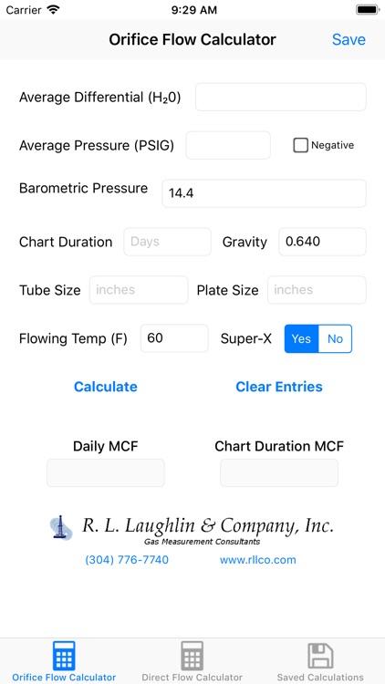 Orifice Flow Rate Calculator