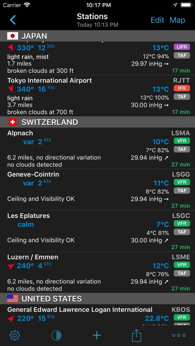 Screenshot for AeroWeather Pro in United States App Store
