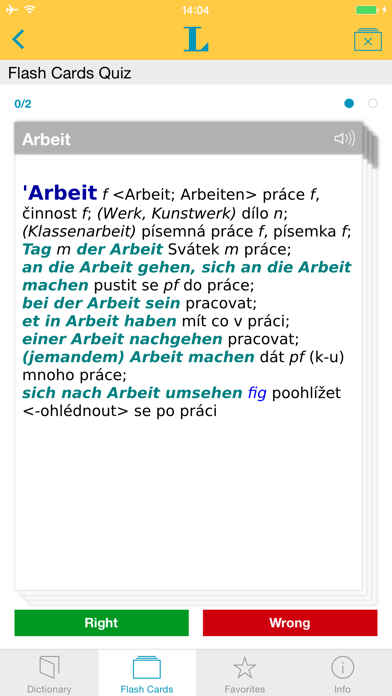 German Czech Dictionary screenshot three
