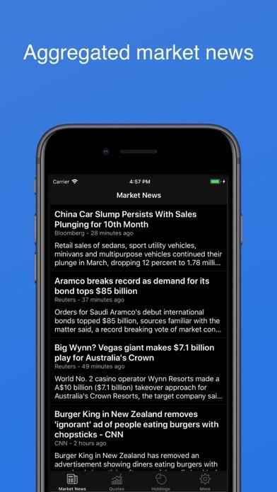 My Stocks Portfolio & Widget Screenshot