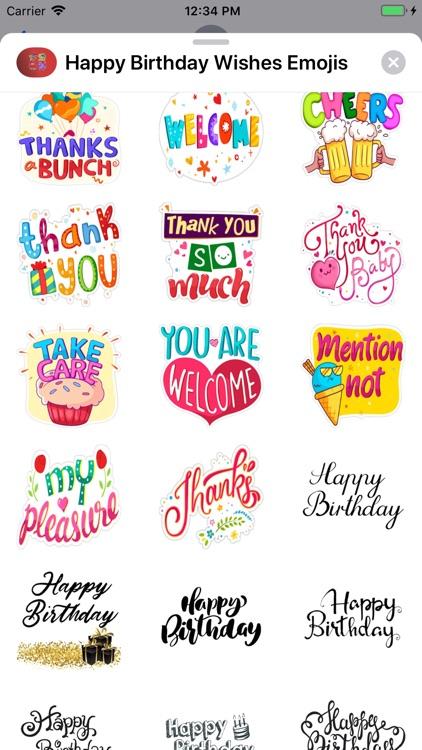 Happy Birthday Wishes Emojis screenshot-5
