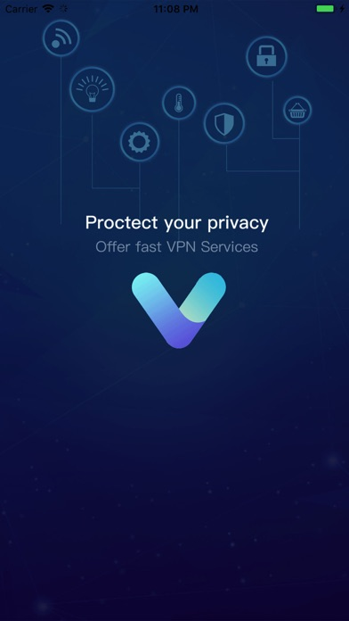 VPN Blue-Hotspot Unlimited VPN Screenshot on iOS