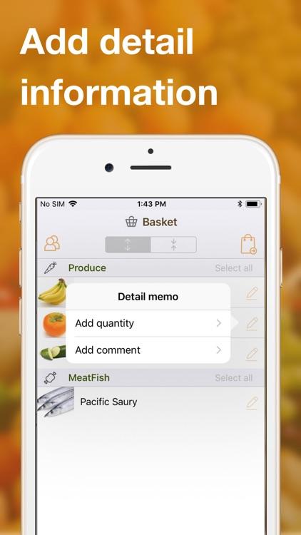 Shared grocery lists plan app screenshot-6