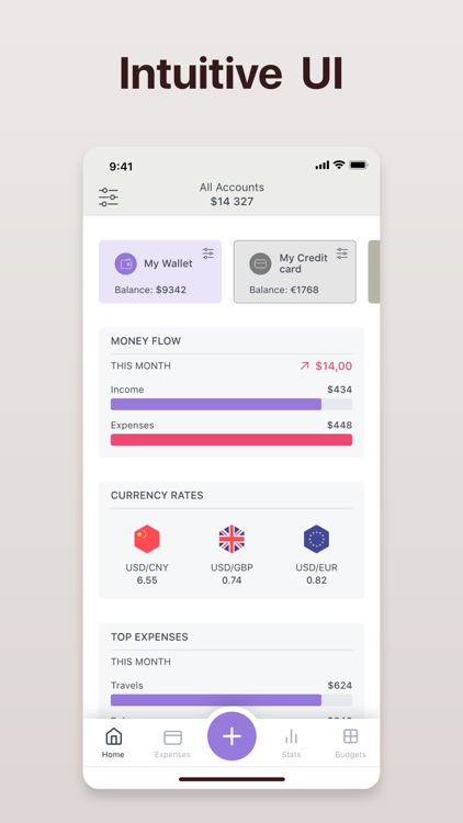 Flowmo - budget tracking app