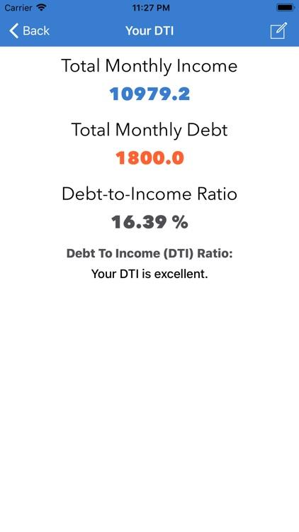 Debt To Income Calculator screenshot-4