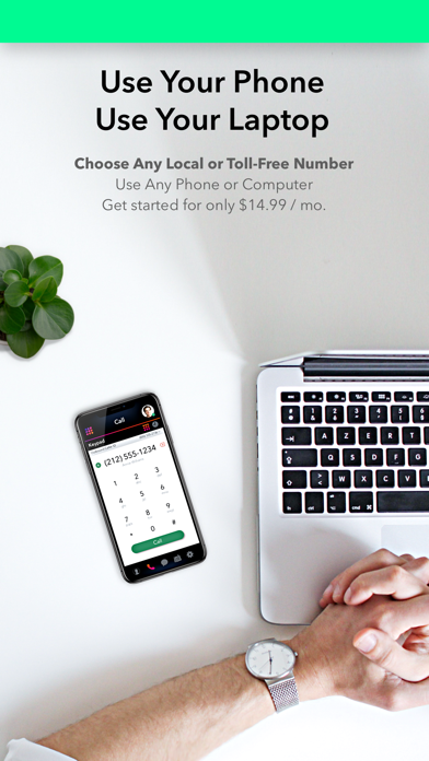2nd Line Business Phone Number Screenshot