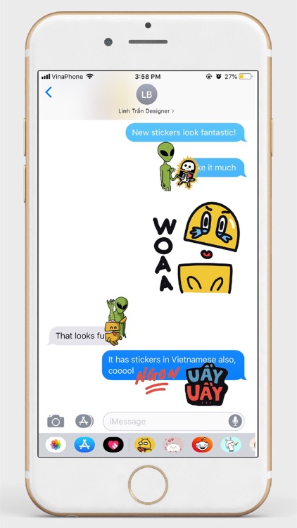 Bu Stickers pack for Imessage