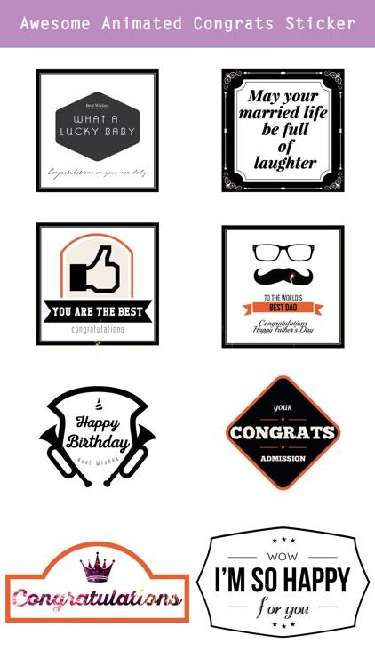 Animated Congrats Stickers screenshot-3