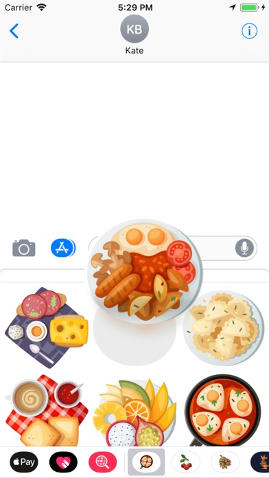 Breakfast Stickers Pro Скриншоты3