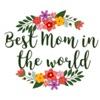 Best Mom In The World Sticker