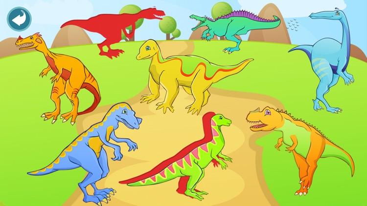 Dinosaur Shape Puzzle Lite screenshot-3