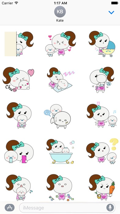 Mother And Her Child Sticker screenshot 1