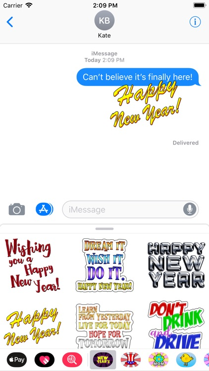 New Year's Fun Stickers