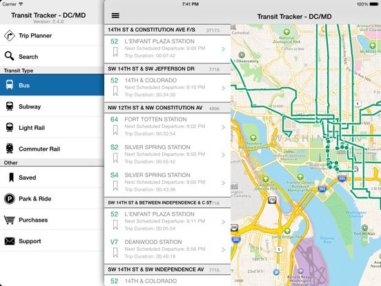 Transit Tracker - DC/Maryland-ipad-1