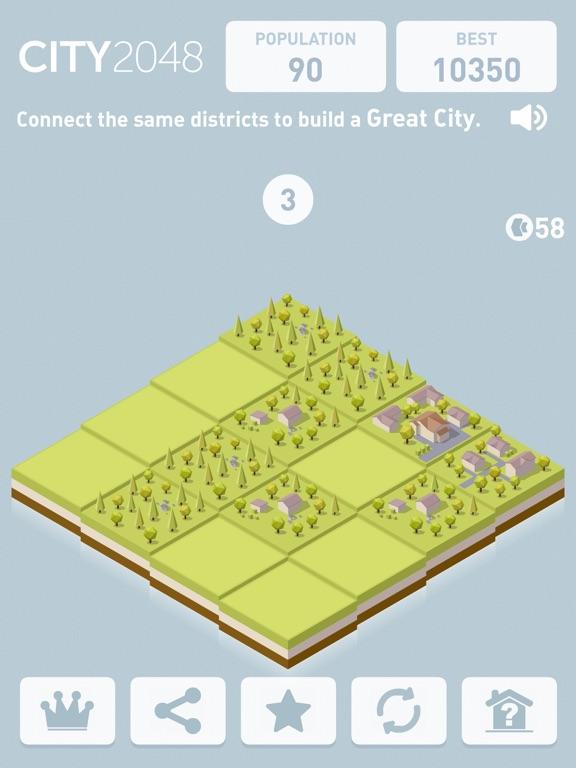 City 2048 screenshot