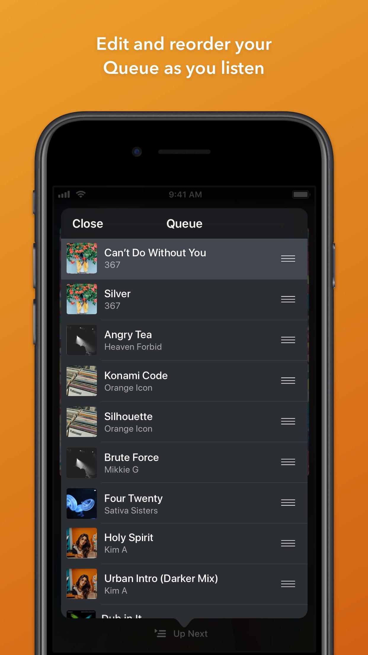 Screenshot do app Doppler Music Player