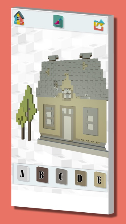 Color with number pixel art 3D