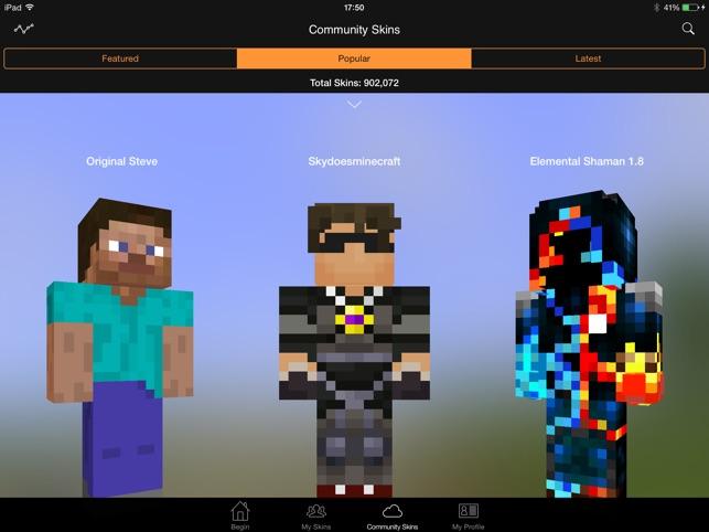 Minecraft Skin Studio On The App Store - Minecraft skins fur ipad