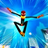 棒人間 クモ ロープ ヒーロー 3d