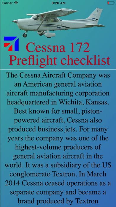 Cessna 172 Preflight Checklistのおすすめ画像1