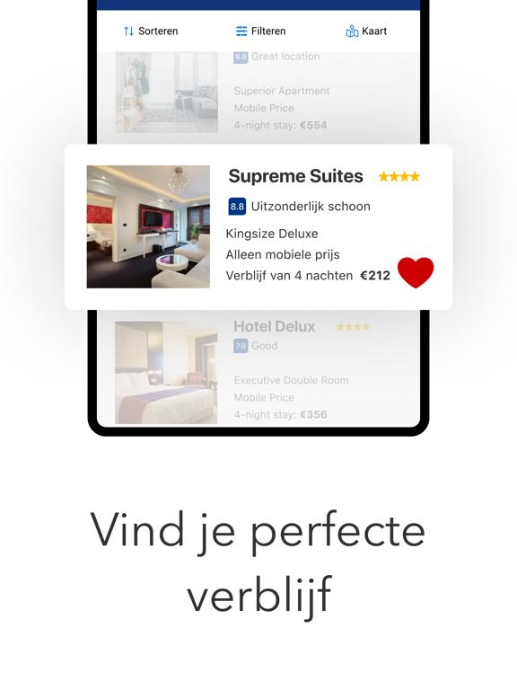 Booking.com Reisdeals iPad app afbeelding 2
