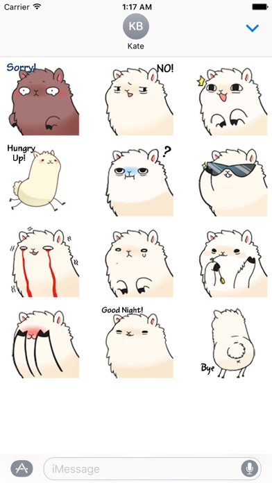 Animated Alpaca Emoji Sticker screenshot 2
