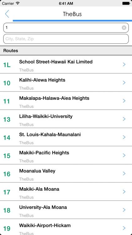 Transit Tracker - Oahu screenshot-4