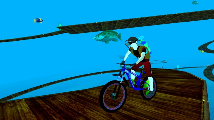 Underwater Crazy Bicycle Race