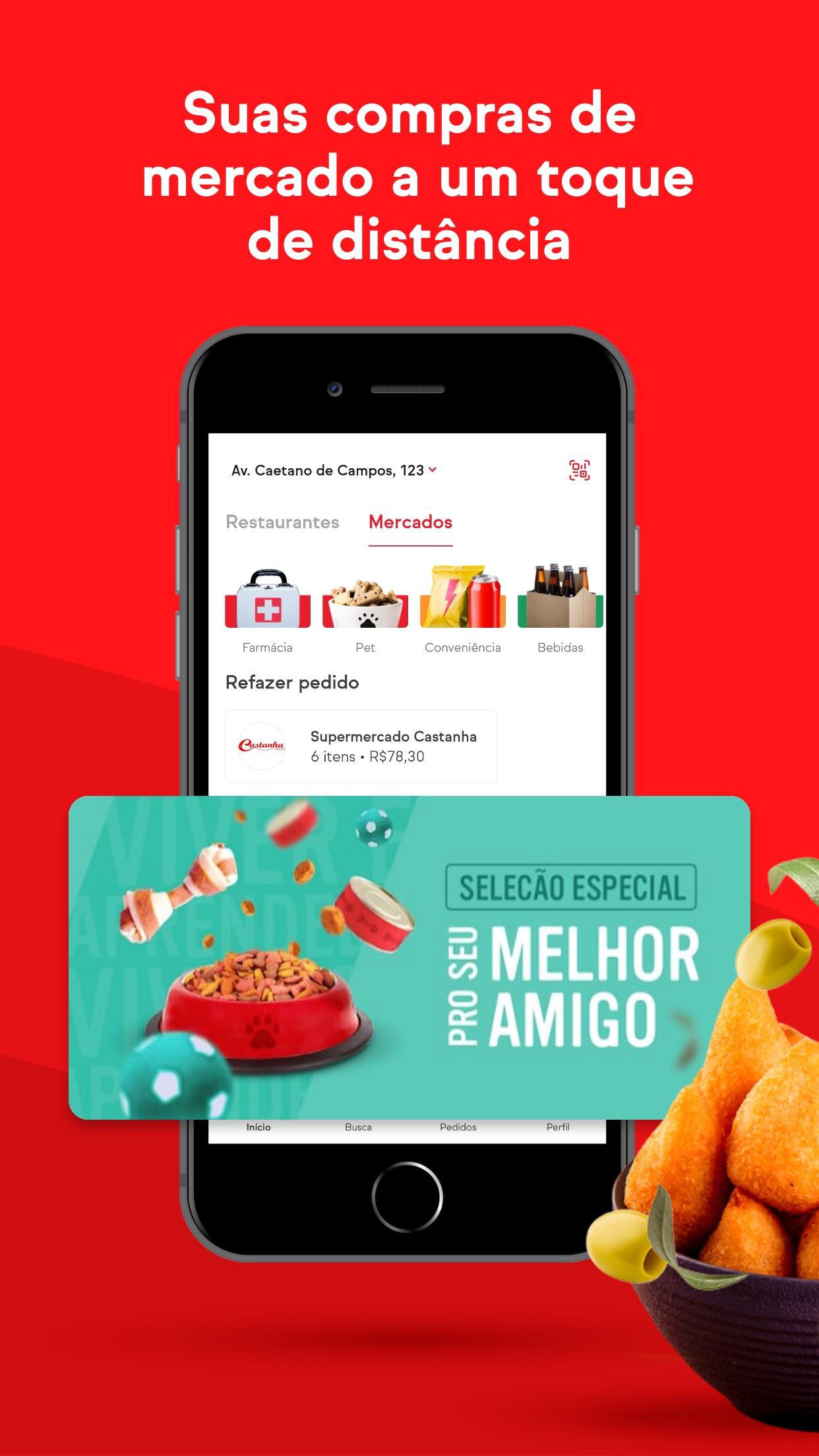 Screenshot do app iFood: Delivery de comida
