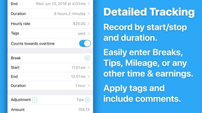 HoursTracker: Hours and Pay Screenshot