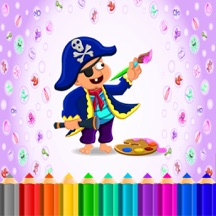 Kid Coloring Bundle Lite : Learn Paint Pirate,Fruit,Monster,Birthday Theme
