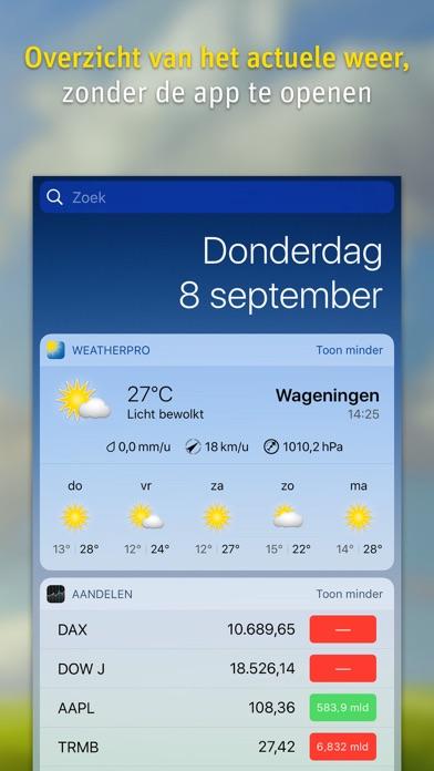 WeatherPro iPhone app afbeelding 3