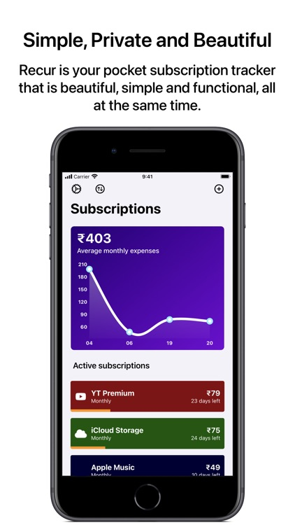 Recur - Subscription Tracker
