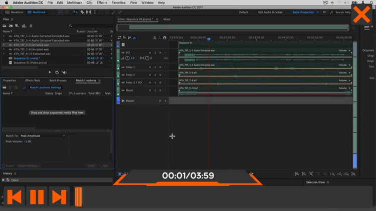 Worksflows Adobe Audition CC