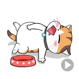 Slack The Lazy Cat Stickers