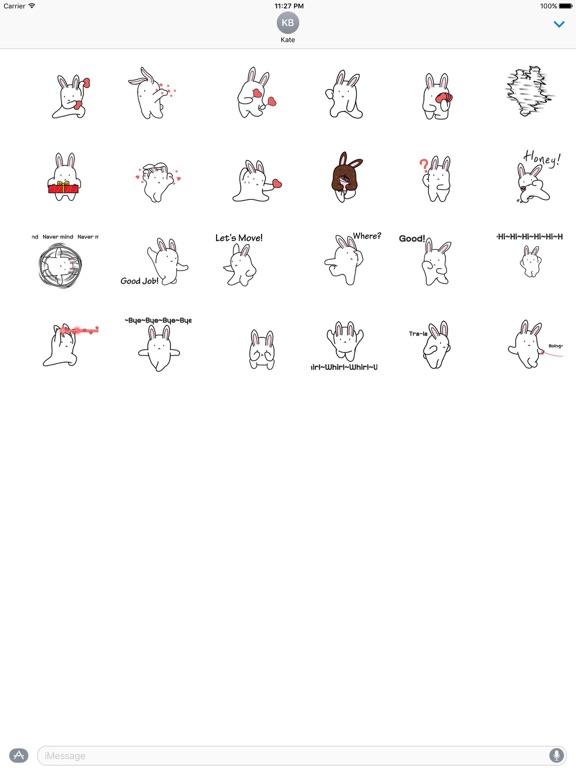 Animated Dancing Bunny Sticker screenshot 3