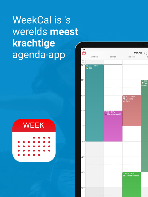 WeekCalendar - Cloud Kalender iPad app afbeelding 1