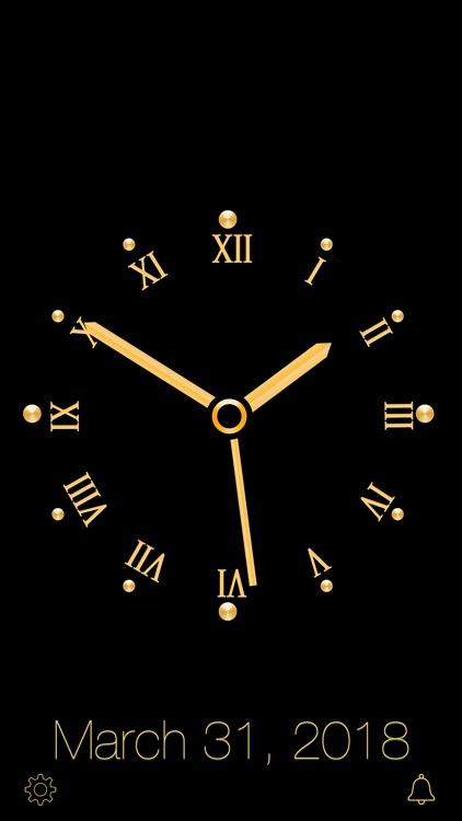 Gold Luxury Clock screenshot-9