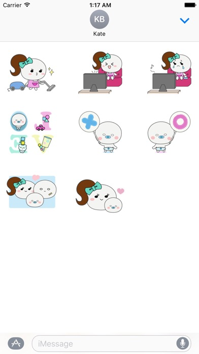 Mother And Her Child Sticker screenshot 3