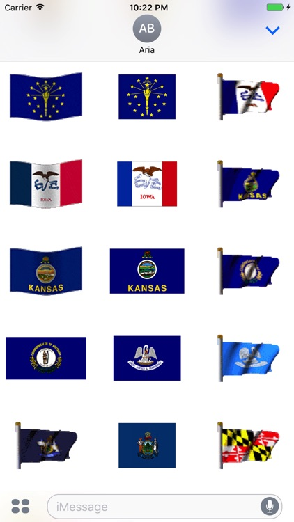 Animated Flags Of 50 US States screenshot-3