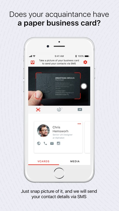 Dropex business cards contacts app price drops screenshot 1 for dropex business cards contacts colourmoves