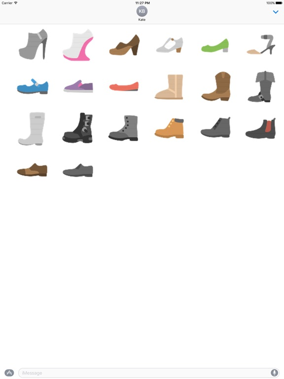 Clothes And Shoes Icon Sticker screenshot 12