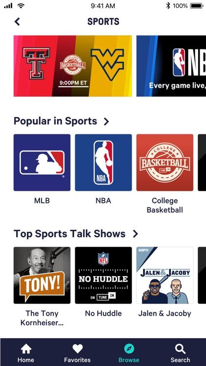 TuneIn: Radio, NFL & Podcasts screenshot-3