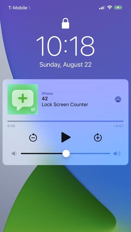 Tally Counter on Lock Screen