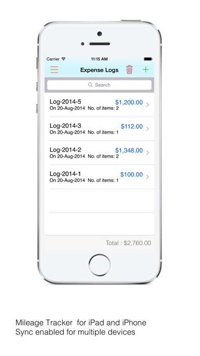 mileagetracker expense invoice app report on mobile action app